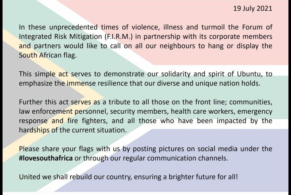 A call to fly the SA flag