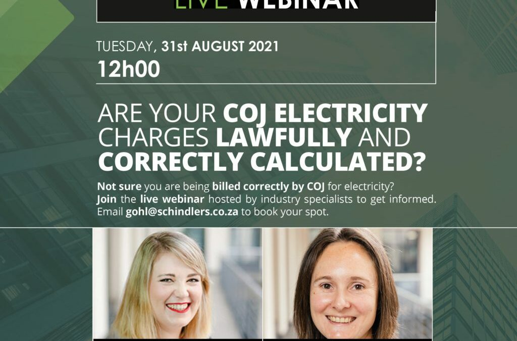 Webinar: Are you being billed correctly by COJ for electricity?